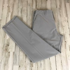 Short Par 4 Mens Pants Gray Lightweight Flat Front